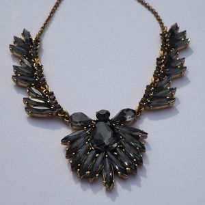 J Crew Factory Gray Bauble Necklace